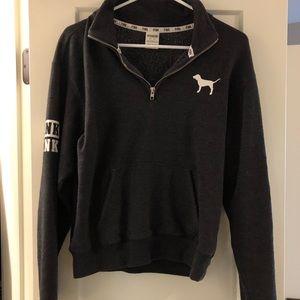 Victoria Secret PINK quarter zip sweatshirt